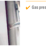 Piec do wypalania ceramiki CB Studio Line - opcja podnośników gazowych