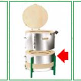 Piec do wypalania ceramiki - system rozbudowy kręgów