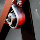 Piec hartowniczy - w mechanizmie otwierania drzwi zastosowano przeciwwagę