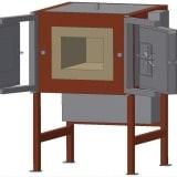 Piec komorowy dwoje drzwi - wizualizacja