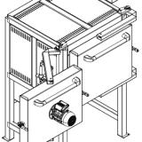 Piec komorowy dwoje drzwi - zamknięte drzwi do hartowania