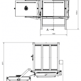 Piec komorowy dwoje drzwi - otwarte jedne drzwi