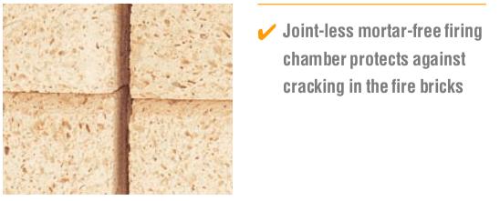 Piec do wypalania ceramiki - izolacja bezłączeniowa przeciw pękaniu