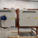 Piec hartowniczy mały (dwoje drzwi) - przytwierdzony do platformy drewnianej