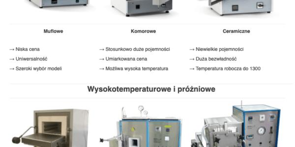 Piece laboratoryjne komorowe